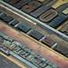 Wood type closeup