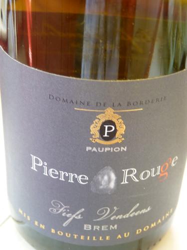 Pierre Rouge, Fiefs Vendéens, Domaine de la Borderie