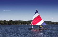 Sailing on Bear Lake (riggsy23) Tags: bear blue sky lake water canon boat sailing michigan shoreline sail