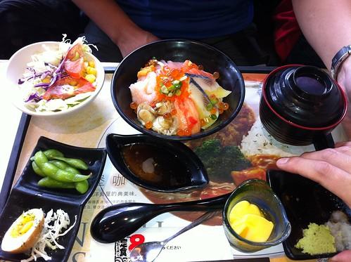 豪華海景丼飯