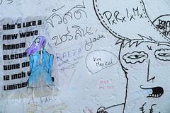 She's like a... (Berlin) (id-iom) Tags: streetart sexy pasteup girl print graffiti screenprint europe wheatpaste paste vandalism electronica heroin idiom withoutborders