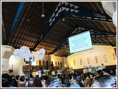 Worshipers inside St Anne's Church, Bukit Mertajam