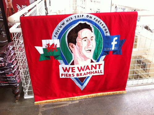 Lovely hand made banner for the new Wales campaign.