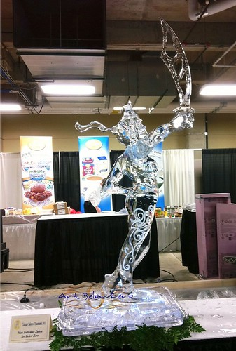 Lady Justice ice sculpture