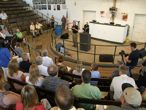 Secretary Vilsack took questions from farmers and rural community and business leaders at a recent White House Rural Forum at the Iowa State Fair.