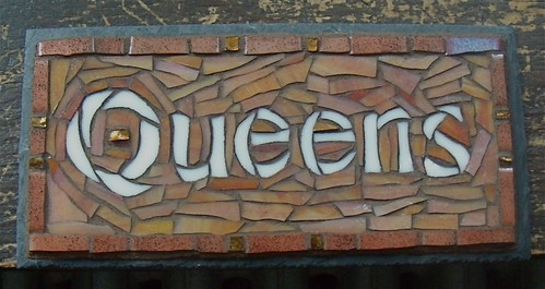 Queens Mosaic Door Sign