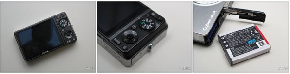 Detail photos of the DSC-WX1 and NPBG1 battery