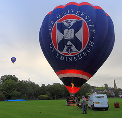 One Gone and One To Go (PeterYoung1.) Tags: balloons hotairballoons wow1 strathaven strahavenballoonfestival