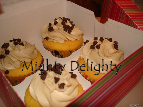eggless Chocolate chipp cookie dough cupcakes Hurricane Irene