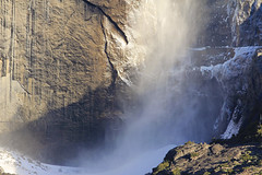 Yosemite Falls (fwukai) Tags: california park winter snow landscape waterfall falls national yosemite