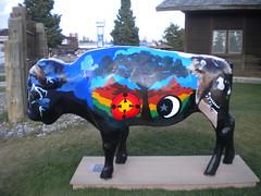 Painted Bison (bunkosquad) Tags: art montana yellowstone rockymountains bison westyellowstone paintedbison