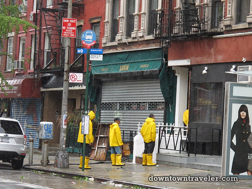 Aftermath of Hurricane Irene in NYC_East Village workers