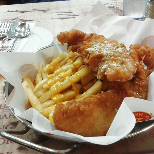 fish & chips with cheese @ manhattan fish market