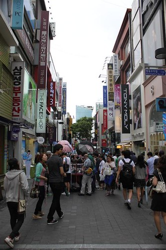 Fashion and Skincare outlets at Myeongdong, Seoul South Korea