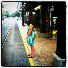 Waiting on the train. #slc #slcsummer12