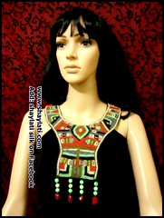 Tribal Collar Necklace (Shaylati) Tags: hijab shayla handpaintedsilk ribbonnecklace collarnecklace