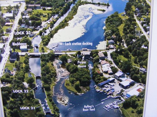 Overview of Merrickville Locks 21, 22, and 23