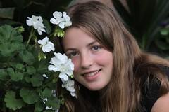 Katja (peter++) Tags: flowers portrait woman flower girl slovenia slovenija katja katjad