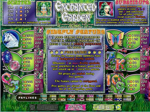 Enchanted Garden Slots Payout
