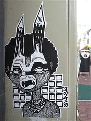 Sivanski (Akbar Sim) Tags: streetart holland pasteup netherlands sticker arnhem nederland akbarsimonse sivanski akbarsim