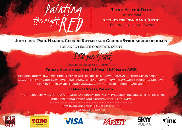 TORO After Dark Benefiting Artists for Peace and Justice