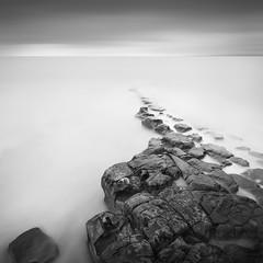T i m e & T i d e (Weeman76) Tags: uk longexposure sea bw seascape southwest monochrome mono nikon tide somerset minimal le minimalist limestonepavement d90 kilve sigma1020mmf456exdchsm nd110 niksoft silverefexpro2