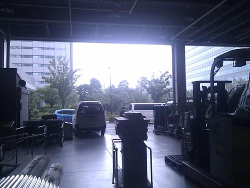 突然の豪雨!