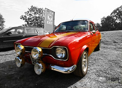 Ford Escort Mk1 (Barry_Adams) Tags: uk red england ford kent september escort brandshatch selectivecolour 2011 fordescortmk1