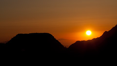 Mount Wilson Sunset (Edwin_Abedi) Tags: california sunset mountain silhouette 100mm mountwilson