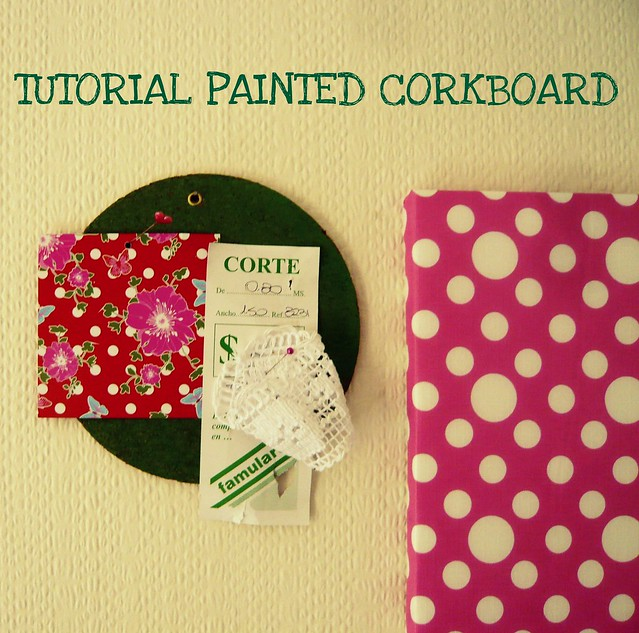 tutorial corkboard paint