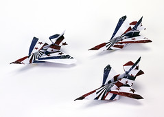 Origami création - Didier Boursin - Avions Mach 3
