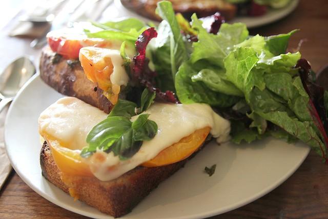 Fried Egg open faced sandwich at Outerlands by Caroline on Crack