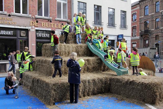 Veeprijskamp op het Sint-Jacobsplein - jaarmarkt Leuven 2011
