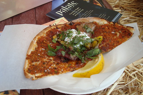 Lamb Flatbread from Palate Food & Wine