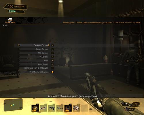 Deus Ex: Human Revolution - Debug Mode Gives You Customization Freedom