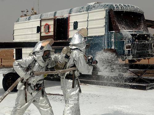 Firefighter training in Djibouti, August 2011