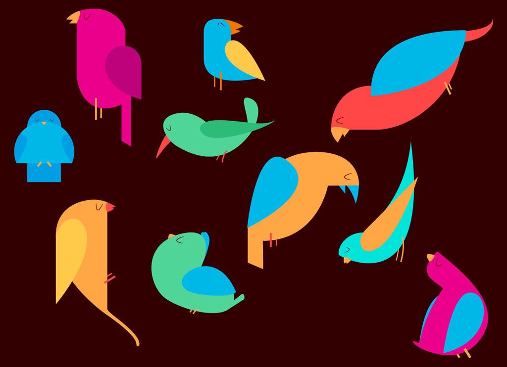 Birds Vintage Clip art