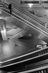 escher-politan.. ()0SH) Tags: bw white black underground metro escalator picture bn escher metropolitana biancoenero scalemobili