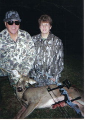 Dick and Betty Fischer with a doe (Dan Small Outdoors) Tags: deerhunting bowhunting dickfischer dansmall outdoorsradio blindbowhunter handicappedhunting