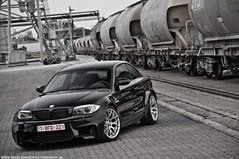 Duo BMW 1-Serie M Coup (Mimimii77898090) Tags: usa white black industry mike car america photography lights nikon shoot belgium automotive m be bmw nikkor rim coup 1m 1serie mfest d5000 crawat