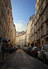Evening light (wind of renovatio) Tags: street city sky paris france clouds spring cobblestones oldhouses eveninglight lateafternoon brickroad      canonefs1022   canon550d mygearandme windofrenovatio