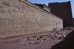 Temple of Edfu, Upper Egypt (Yvon from Ottawa) Tags: art wall temple artist artistic egypt egyptian falcon horus inscription edfu ptolemaic hieroglyphic