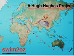 Hugh Hughes - #Swim2Oz - The Route