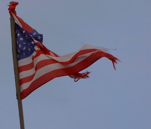 From flickr.com: tattered flag {MID-140372}