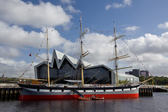 Glasgow's new Riverside Museum, and the Glenlee sailing ship