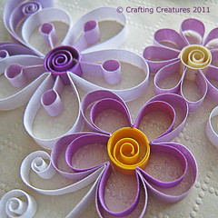 Quilled Flowers (Crafting Creatures) Tags: flowers quilling keepsakebox openpetal