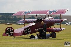 G-FOKK - PFA 238-14253 - Private - Fokker DR.1 Triplane Replica - 110710 - Duxford - Steven Gray - IMG_6768