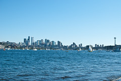 Seattle skyline view from Gasworks park (Anilkumar Y) Tags: kerrypark gasworkspark wallacefalls lakewallace