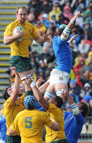 Buona la touche azzurra contro l'Australia