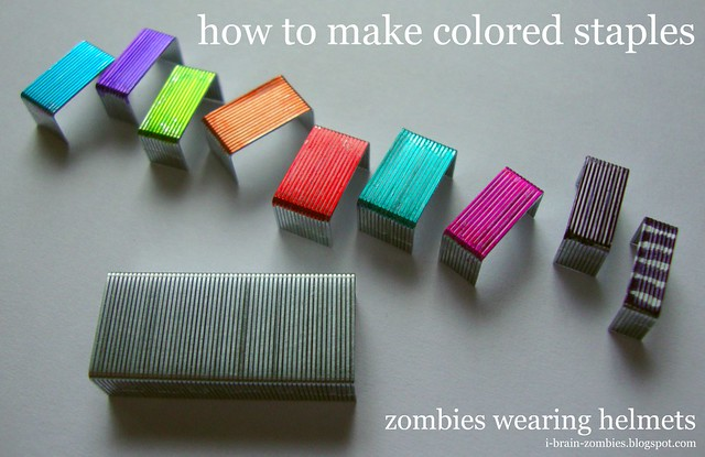 how to make colored staples